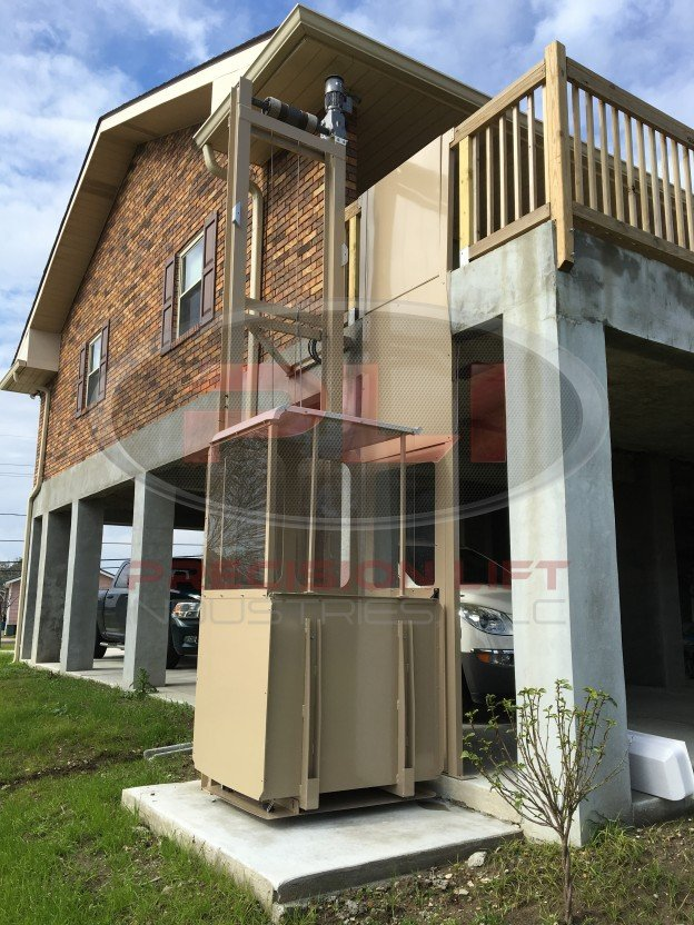 Indoor and outdoor residential elevators precision lift for Cheap home elevators
